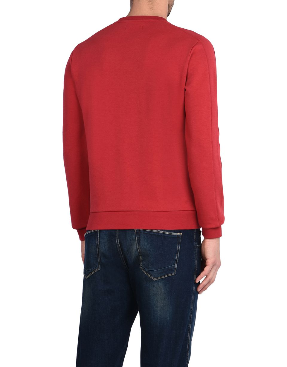 Scuderia Ferrari Online Store - Crewneck sweatshirt in technical cotton fabric -