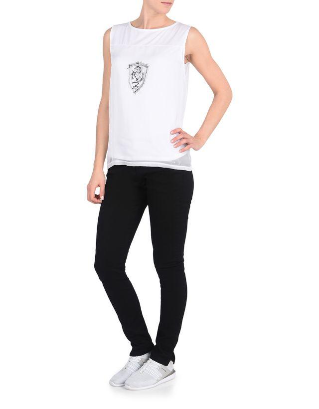 Scuderia Ferrari Online Store - 法拉利盾形徽标女士无袖上衣 -