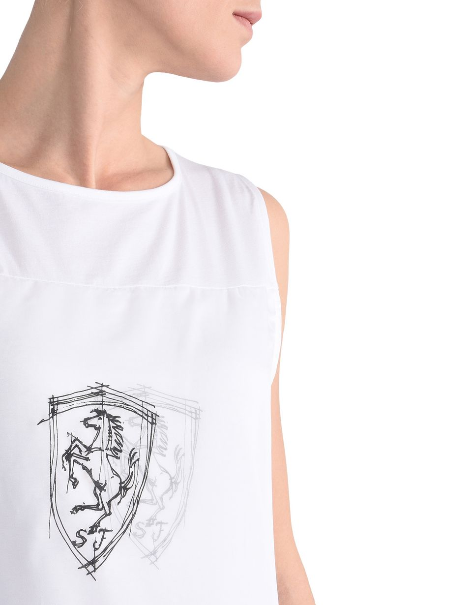 Scuderia Ferrari Online Store - Women's sleeveless top with Ferrari Shield - Tank Tops