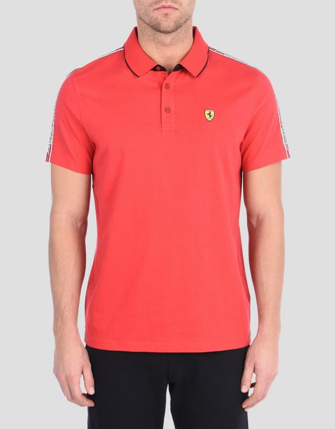 Polo avec Icon Tape Scuderia Ferrari