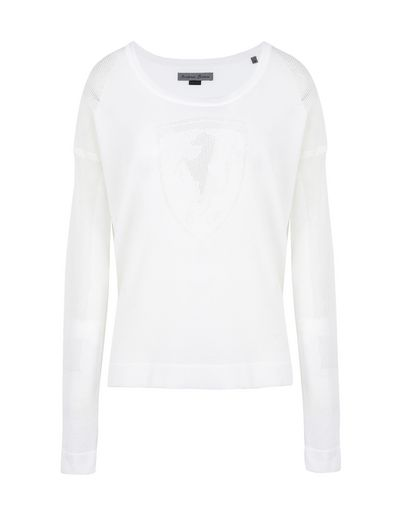 Scuderia Ferrari Online Store - Women's long-sleeve tricot sweater with Shield -