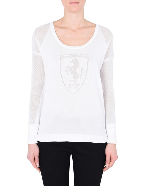 Women's long-sleeve tricot sweater with Shield