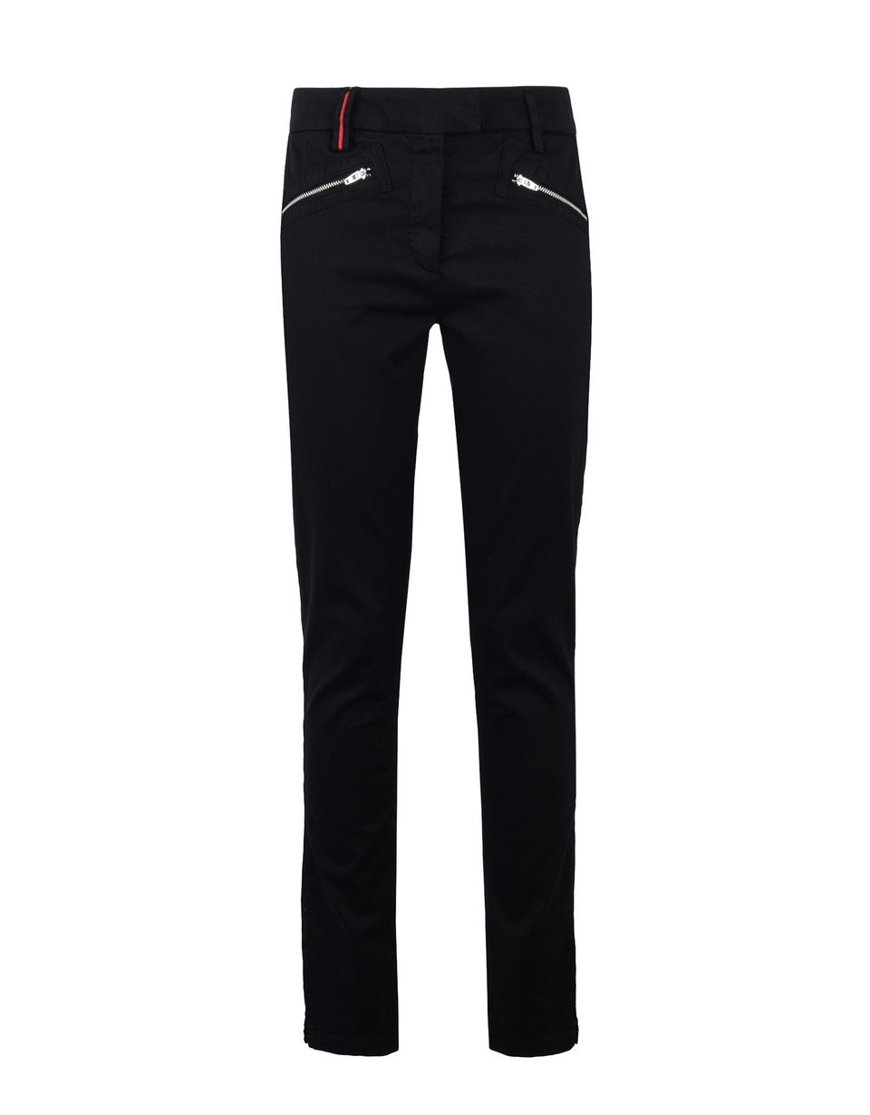 Scuderia Ferrari Online Store - Women's stretch trousers with Scuderia Ferrari label - 5-pocket trousers