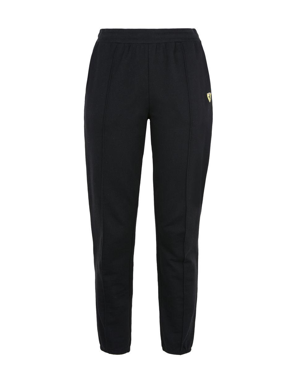 Scuderia Ferrari Online Store - Pantaloni in felpa donna con dettagli in maglia a costine - Pantaloni da Jogging