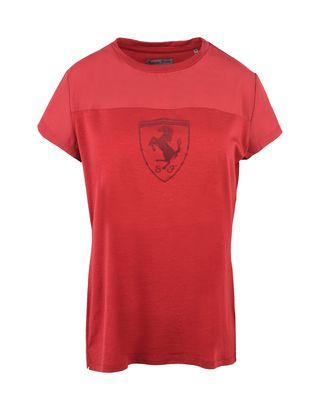 Scuderia Ferrari Online Store - Oversize crewneck T-shirt with Shield - Short Sleeve T-Shirts