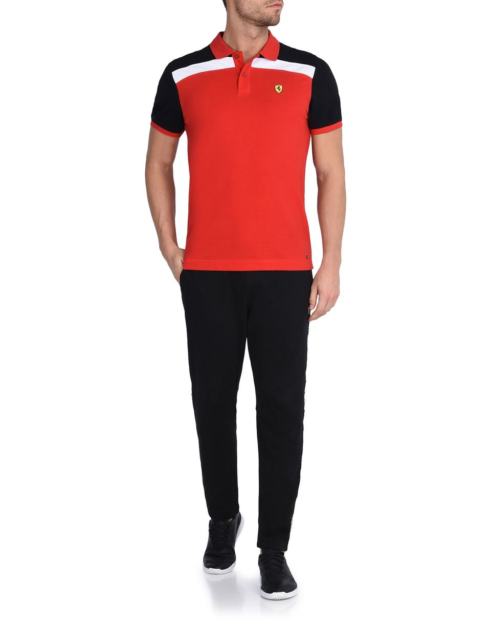 Scuderia Ferrari Online Store - Short-sleeve polo shirt with Shield on the breast -