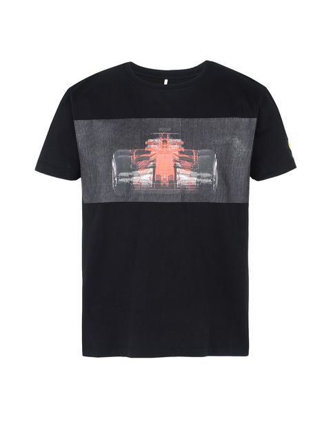 Scuderia Ferrari Online Store - Men's T-shirt with race car print - Short Sleeve T-Shirts