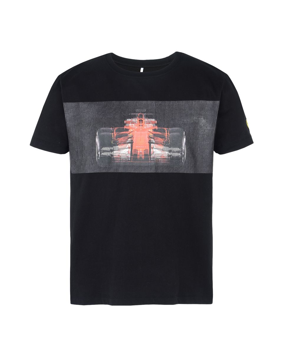 Scuderia Ferrari Online Store - Men's T-shirt with racing car print - Short Sleeve T-Shirts