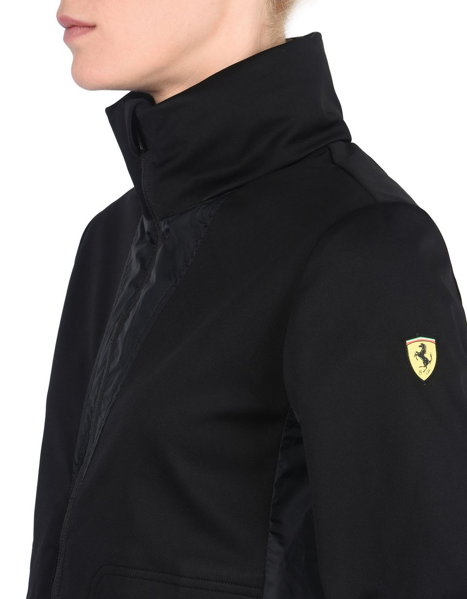 Scuderia Ferrari Online Store - Women's waterproof jacket with concealed hood - Bombers & Track Jackets