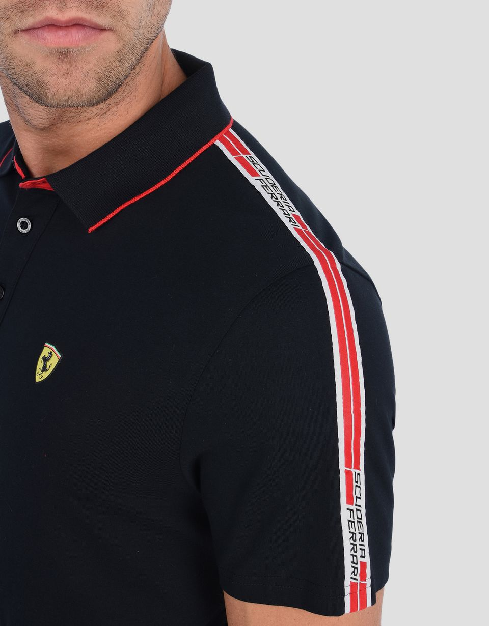 Scuderia Ferrari Online Store - Polo shirt with Scuderia Ferrari Icon Tape -