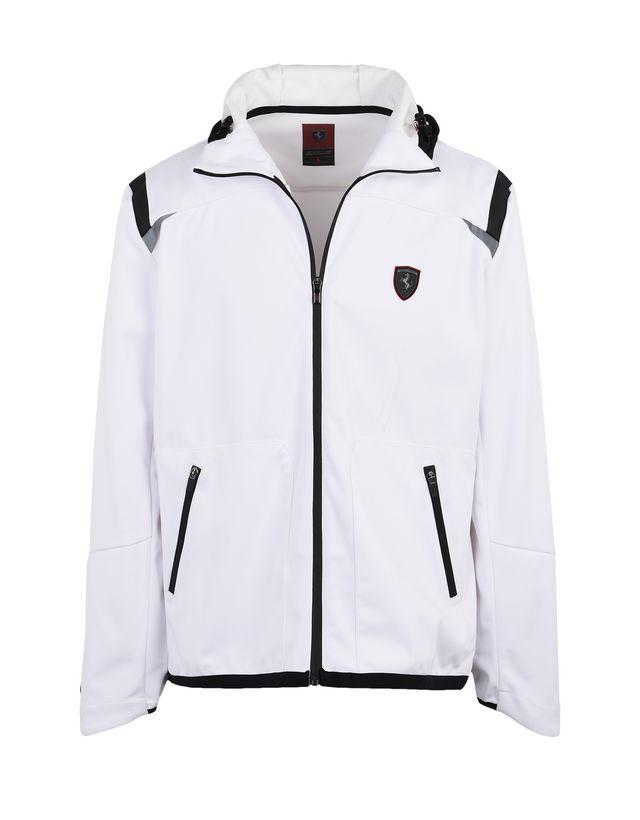 Scuderia Ferrari Online Store - Waterproof Softshell hooded jacket - Bombers & Track Jackets