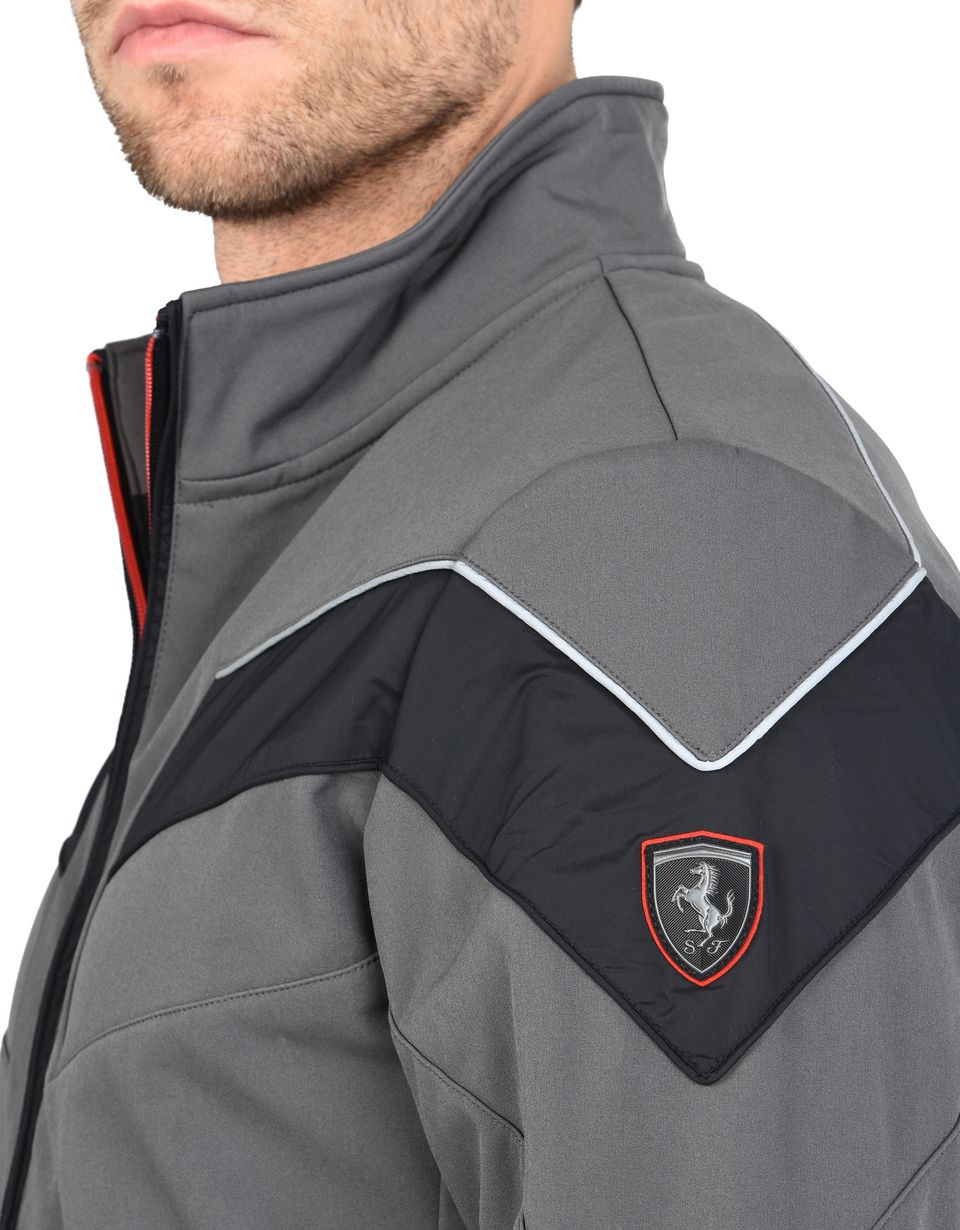 Scuderia Ferrari Online Store - Softshell jacket with Ferrari Shield - Bombers & Track Jackets