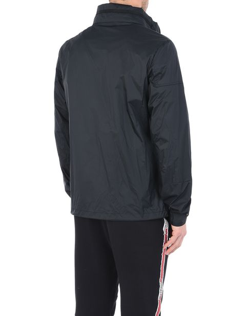 Men's water-repellent jacket with concealed hood