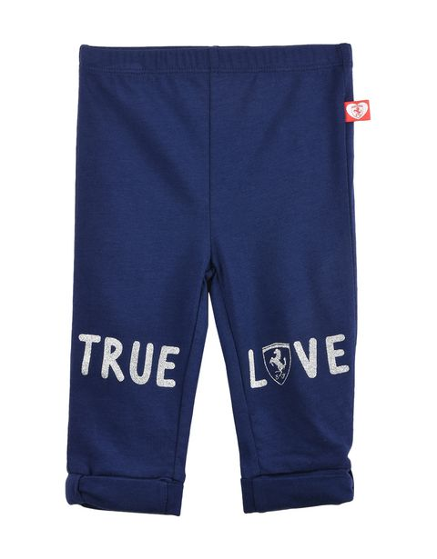 Baby girl leggings with label with heart and Shield
