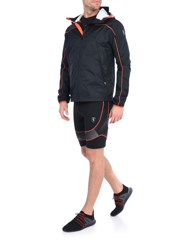 Scuderia Ferrari Online Store - 男士橙色细节运动夹克 - 飞行夹克与运动夹克