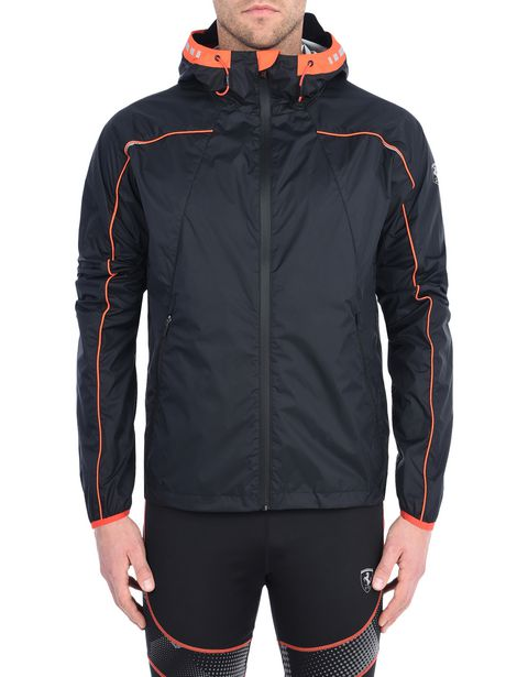 Men's sports jacket with orange detailing