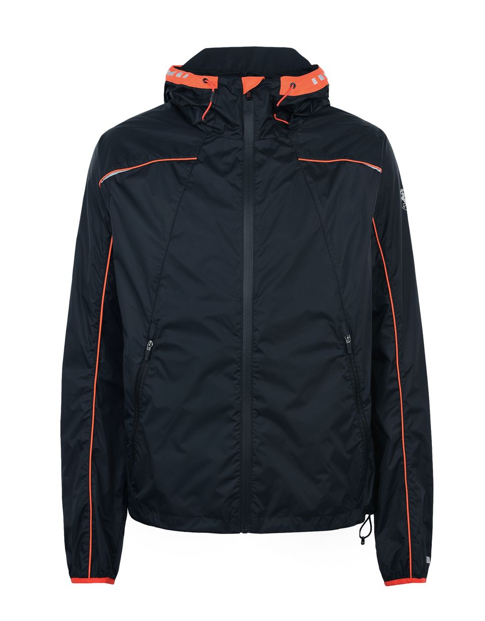 Scuderia Ferrari Online Store - Men's sports jacket with orange detailing - Bombers & Track Jackets