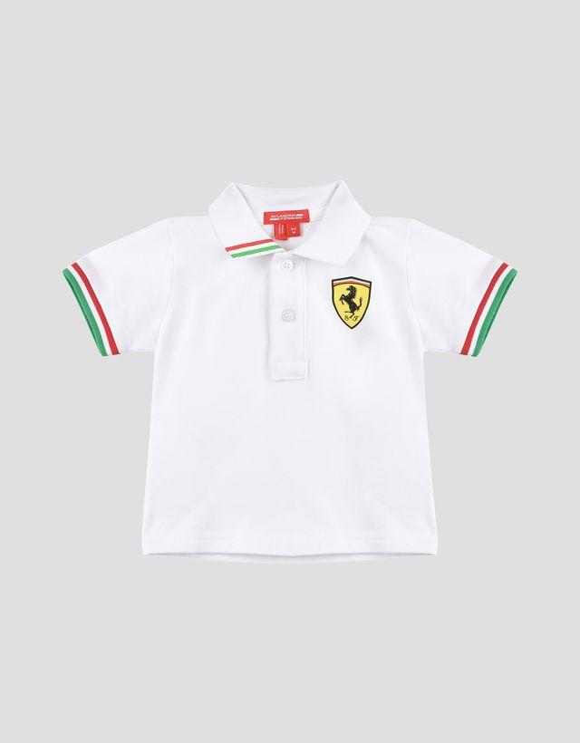 t scuderia index shield puma polo shirt ferrari red store