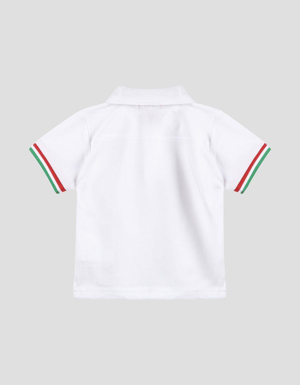 Scuderia Ferrari Online Store - Поло с короткими рукавами Scuderia Ferrari для новорождённого - Поло с короткими рукавами