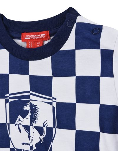 Scuderia Ferrari Online Store - Baby chequered T-shirt - Short Sleeve T-Shirts
