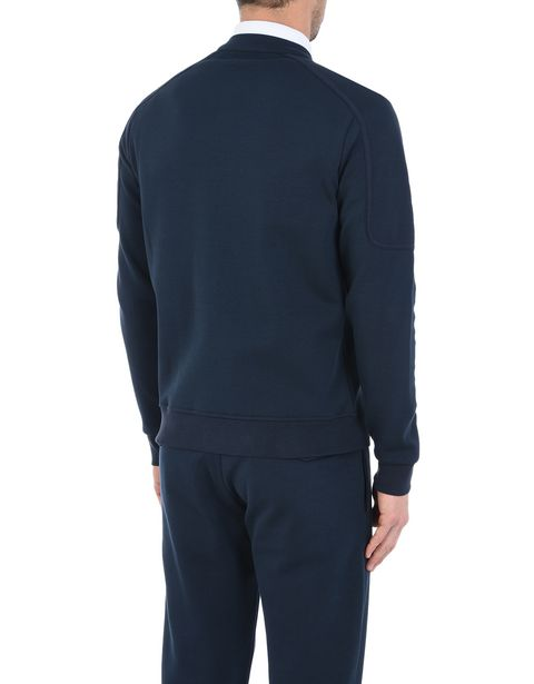 Men's zip sweater in technical cotton fleece