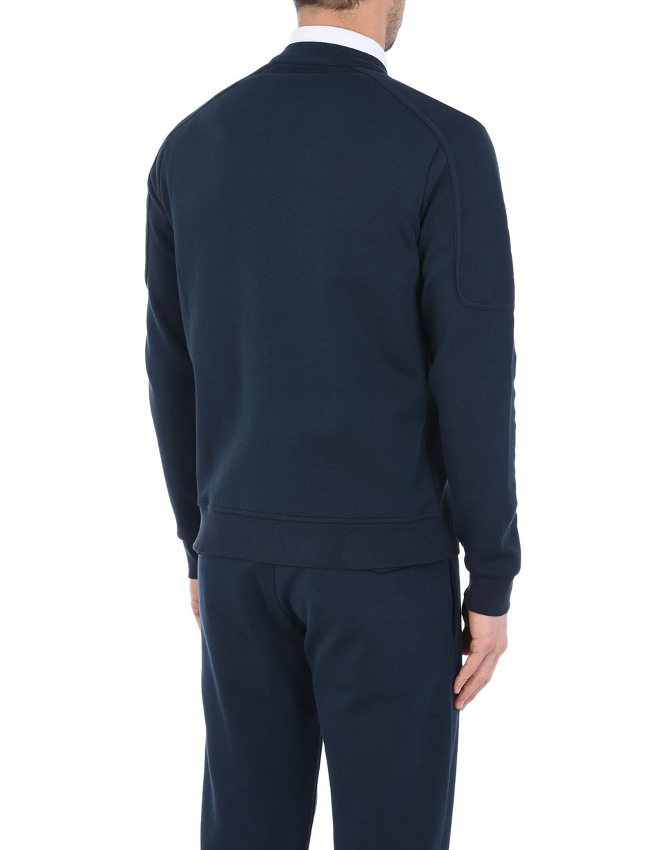 Scuderia Ferrari Online Store - Men's zipped sweater in technical cotton fleece - Zip Sweaters