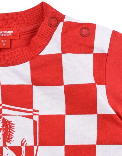 Scuderia Ferrari Online Store - Baby checkered T-shirt - Short Sleeve T-Shirts