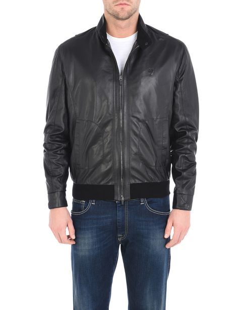 Men's leather bomber
