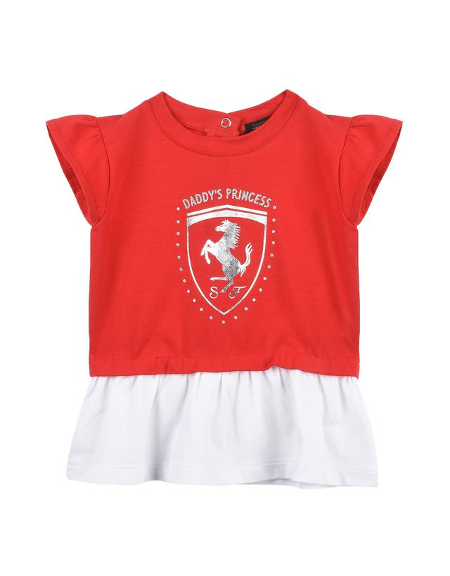 Scuderia Ferrari Online Store - Baby dress with ruffles - Short Dresses