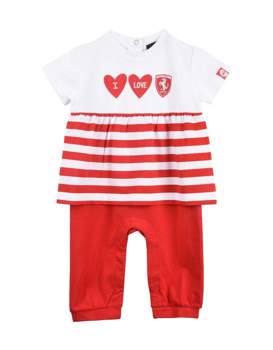 "Scuderia Ferrari Online Store - Baby boy ""I love Ferrari"" play suit - Jumpsuits"