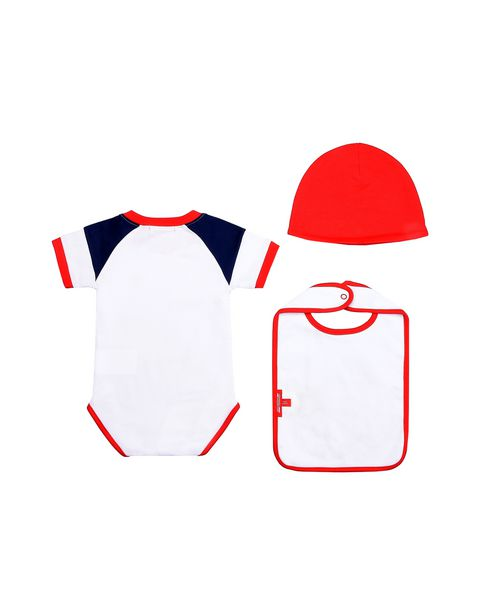 Gift idea: baby boys bodysuit, cap and bib