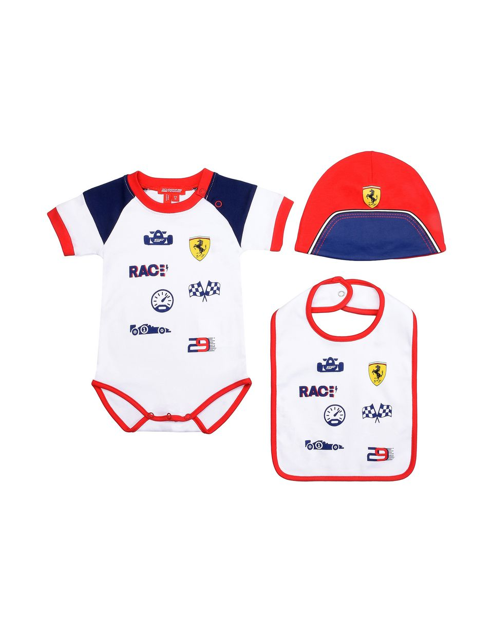 Scuderia Ferrari Online Store - Gift idea: baby boys bodysuit, cap and bib - Baby & Kids Sets