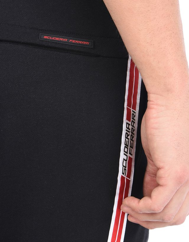 Scuderia Ferrari Online Store - Мужские спортивные брюки с тесьмой Icon Tape от Scuderia Ferrari - Joggers