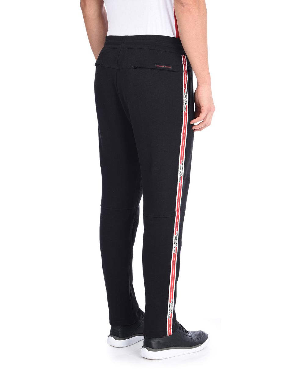 Scuderia Ferrari Online Store - Men's fleece pants with Scuderia Ferrari Icon Tape -
