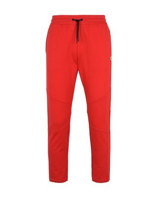 Scuderia Ferrari Online Store - Men's fleece trousers with Scuderia Ferrari Icon Tape - Joggers