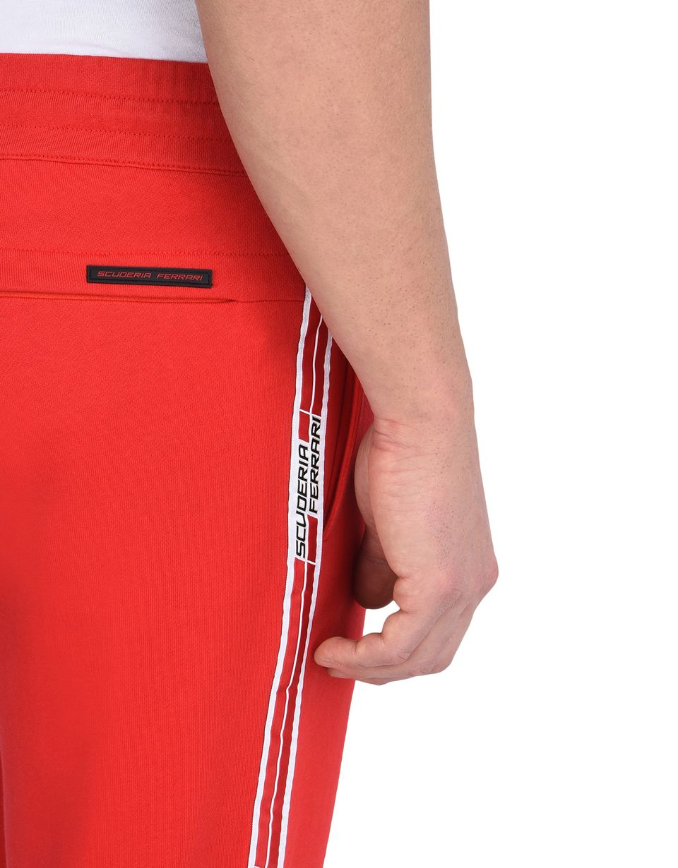 Scuderia Ferrari Online Store - Men's fleece pants with Scuderia Ferrari Icon Tape - Joggers
