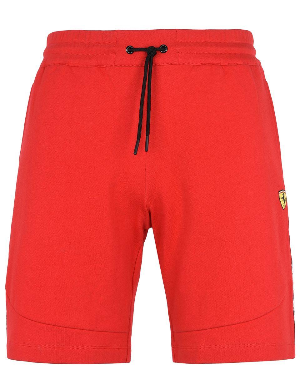 Scuderia Ferrari Online Store - Scuderia Ferrari Bermuda shorts with Icon Tape - Shorts