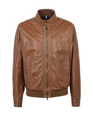 Scuderia Ferrari Online Store - Men's leather bomber - Leather Jackets