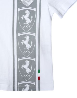 Scuderia Ferrari Online Store - Cotton jersey T-shirt for teens with print -