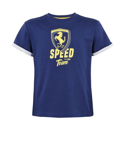 "Solid colour T-shirt for teens with ""Speed"" graphic"