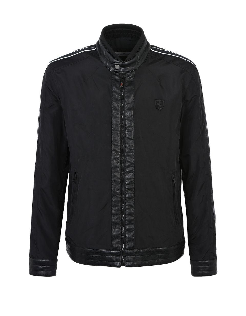 Scuderia Ferrari Online Store - Men's slim-fit biker jacket - Bombers & Track Jackets