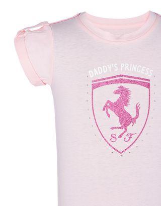 Scuderia Ferrari Online Store - Kurzärmeliges  Mädchenkleid  aus Baumwolle - Kurze Kleider
