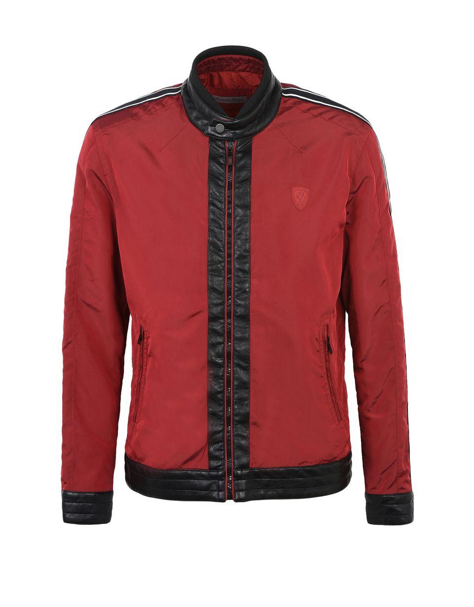 Scuderia Ferrari Online Store - Men's slim fit biker jacket - Bombers & Track Jackets