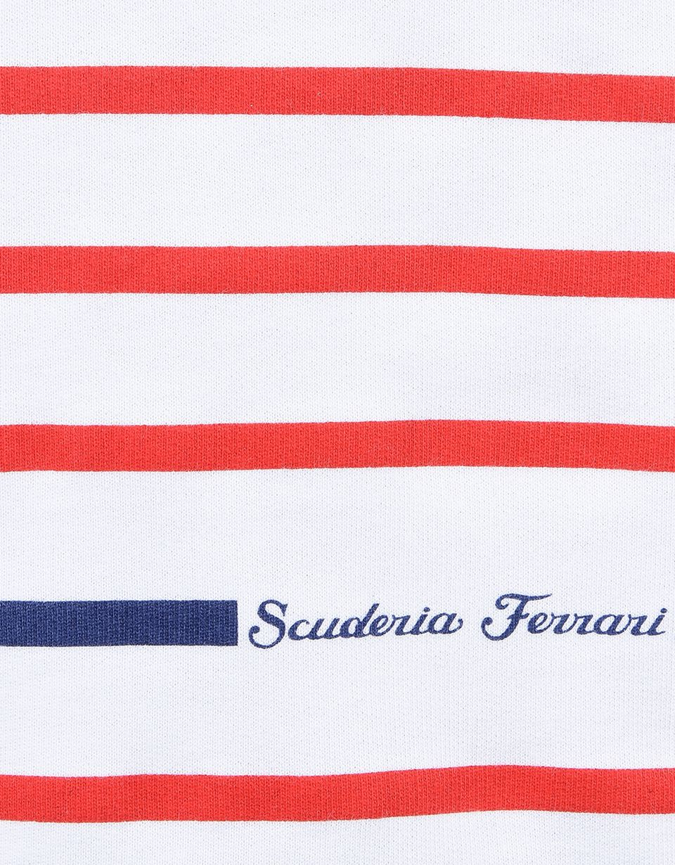 Scuderia Ferrari Online Store - Striped sweatshirt for girls with diamanté - Crew Neck Jumpers