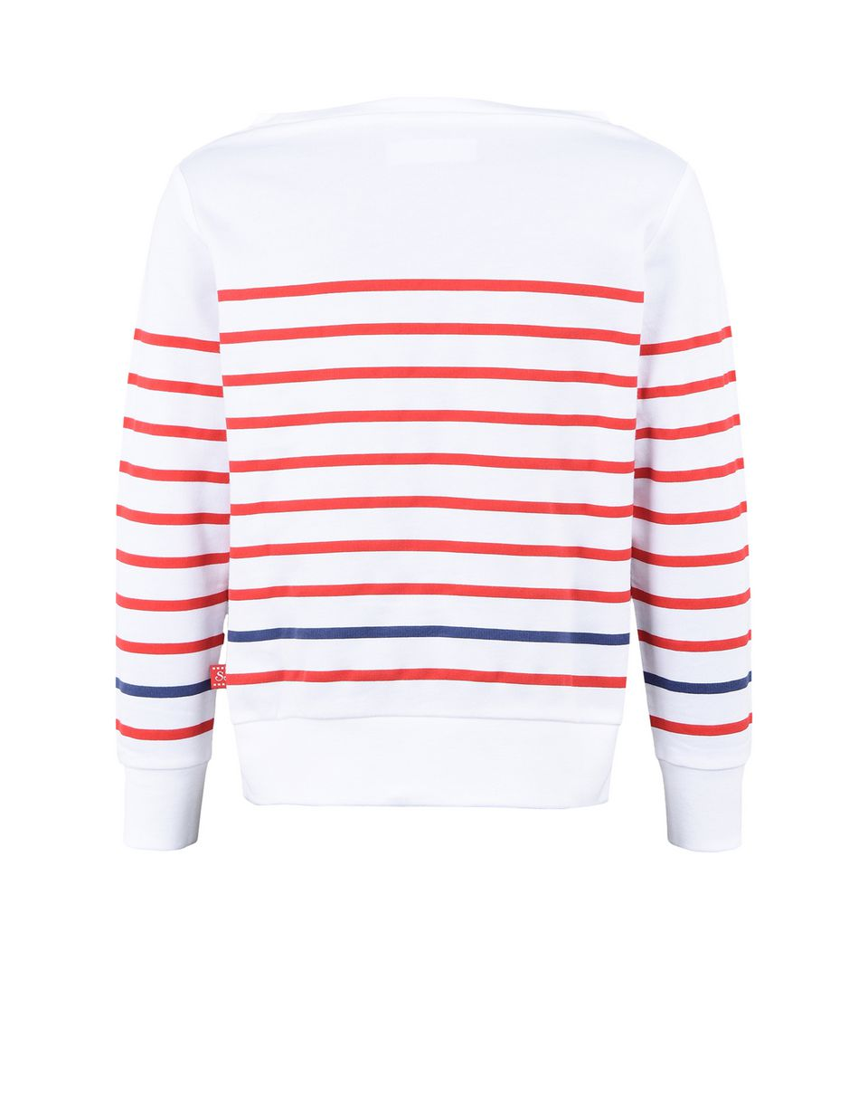 Scuderia Ferrari Online Store - Striped sweatshirt for girls with rhinestones - Crew Neck Sweaters