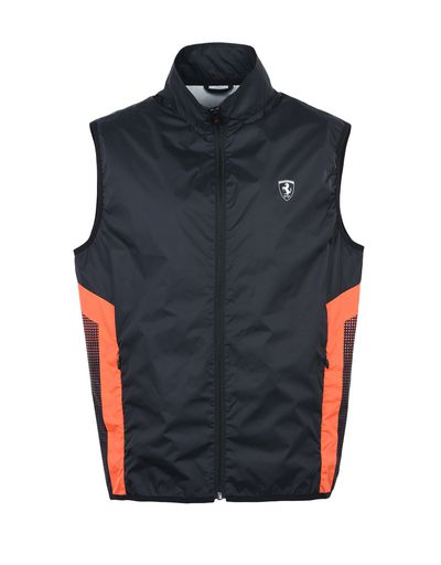 Scuderia Ferrari Online Store - Windproof vest with orange detailing - Vests