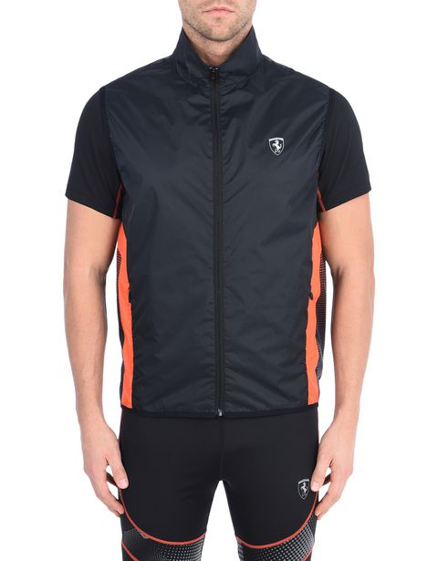 Windproof vest with orange detailing
