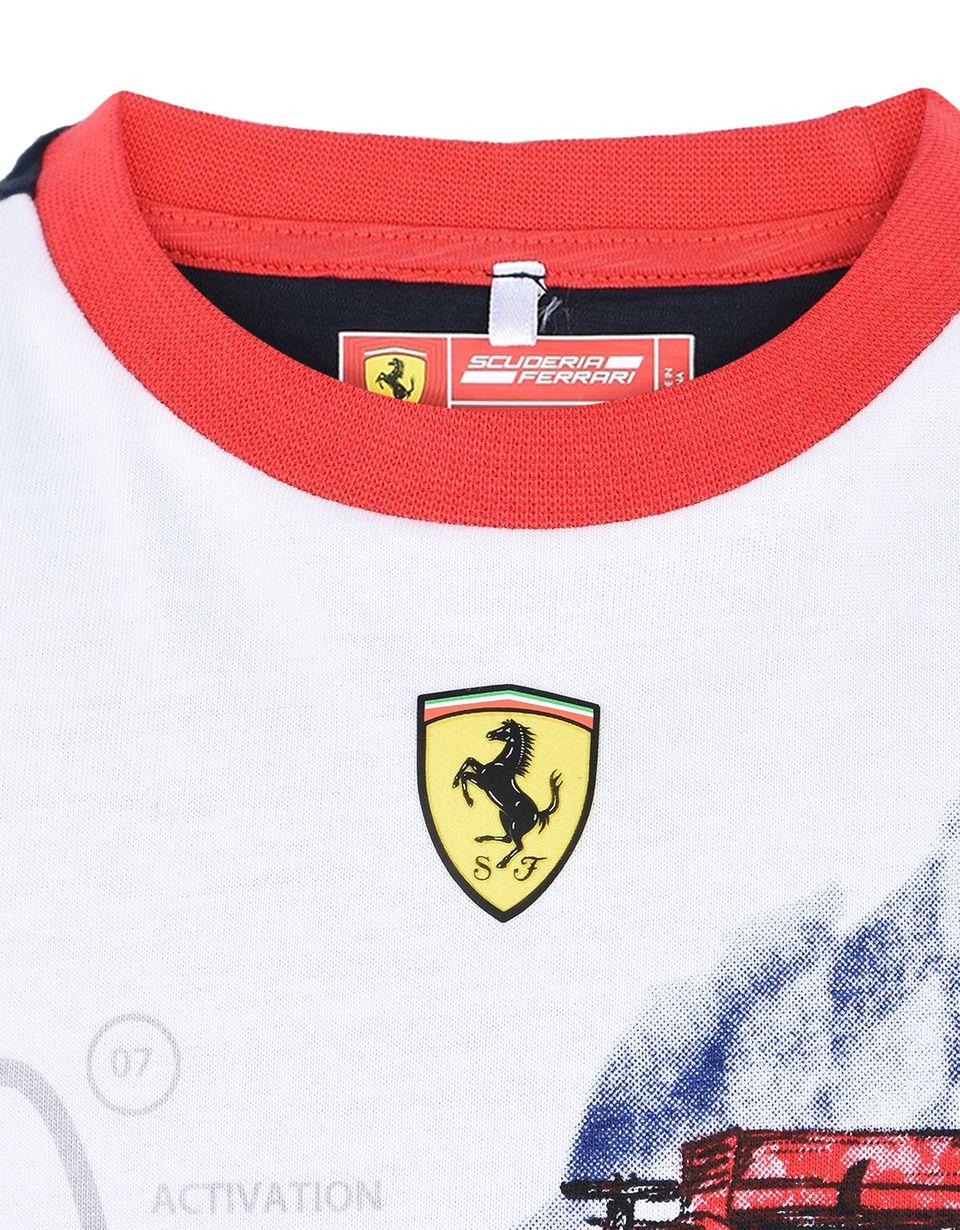 Scuderia Ferrari Online Store - Kinder-T-shirt mit Print - Kurzärmelige T-Shirts