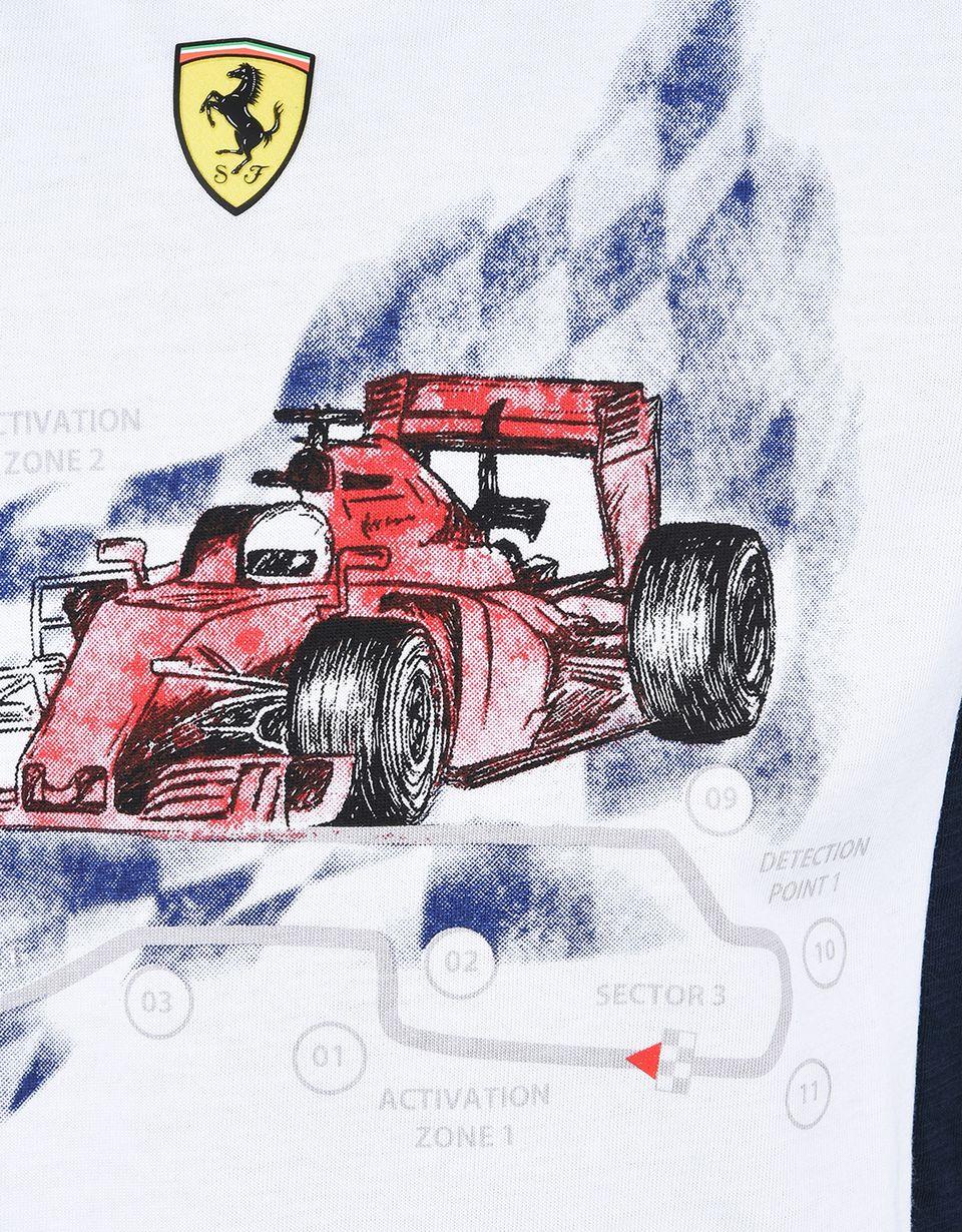 Scuderia Ferrari Online Store - T-shirt ragazzo con stampa - T-shirt manica corta