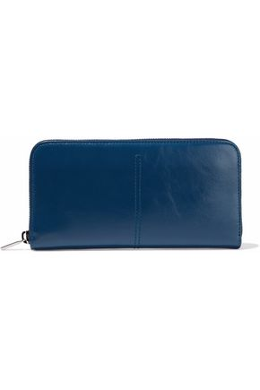 TOD'S Glossed-leather wallet